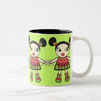 Watermelon baby Two-Tone coffee mug