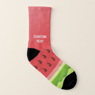 Watermelon Background Socks