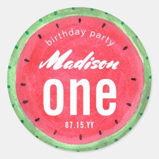 Watermelon   Birthday Party   Sticker