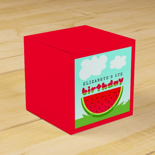 Watermelon Birthday Picnic Party Favor Box