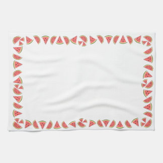 Watermelon Border kitchen towel