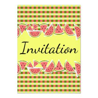 Watermelon Check Invitation vertical