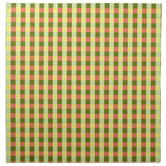 Watermelon Check napkins cloth