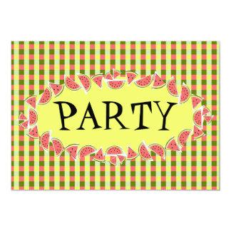 Watermelon Check Party invitation