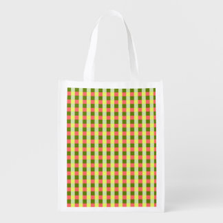 Watermelon Check reusable bag vertical
