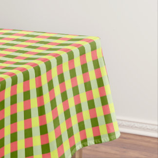 Watermelon Check tablecloth