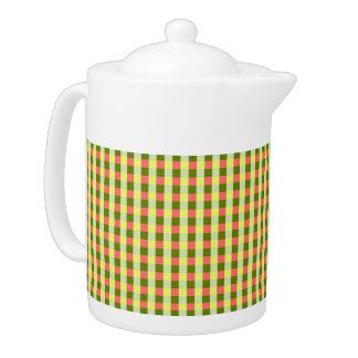 Watermelon Check teapot