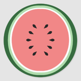 Watermelon Classic Round Sticker
