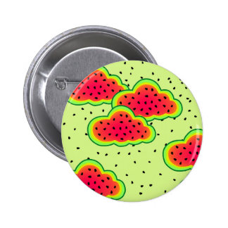 Watermelon Clouds Design 2 Inch Round Button