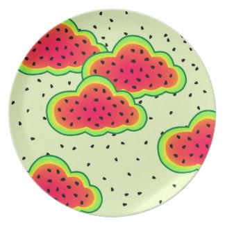 Watermelon Clouds Design Dinner Plate