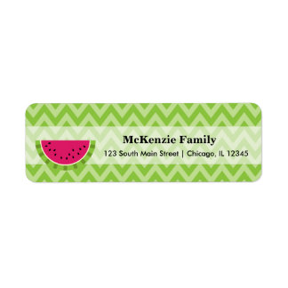 Watermelon colour return address label