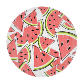 Watermelon cutting board round