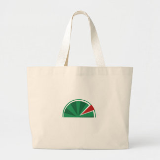 watermelon design large tote bag