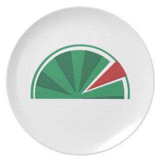 watermelon design plates
