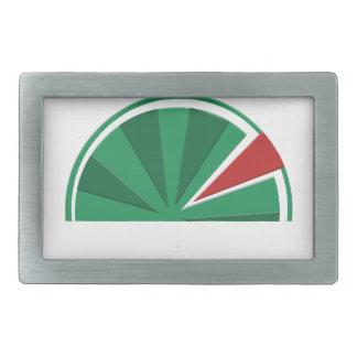 watermelon design rectangular belt buckle