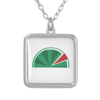 watermelon design silver plated necklace