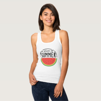 Watermelon design with catchy phrase. tank top