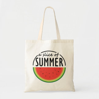 Watermelon design with catchy phrase. tote bag
