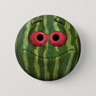 Watermelon Emoticon 2 Inch Round Button