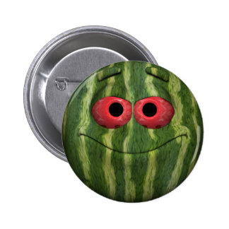 Watermelon Emoticon 2 Inch Round Button