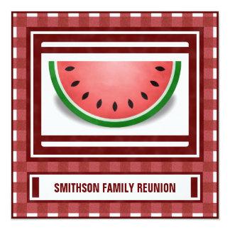 Watermelon Family Reunion BBQ Picnic Invite