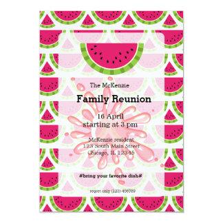 "Watermelon family reunion 5"" x 7"" invitation card"