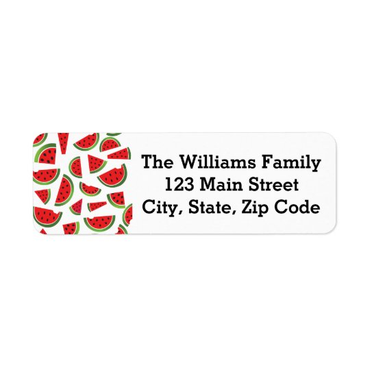 Watermelon Fruit Address Labels