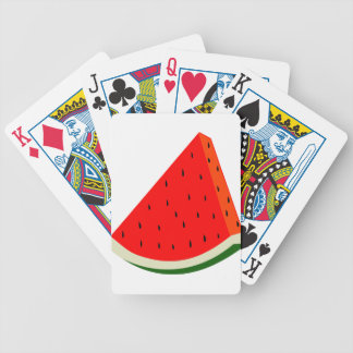 Watermelon Fruit harvest slice summer Bicycle Playing Cards