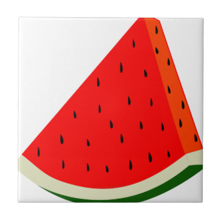 Watermelon Fruit harvest slice summer Ceramic Tile