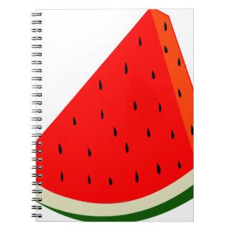 Watermelon Fruit harvest slice summer Notebook