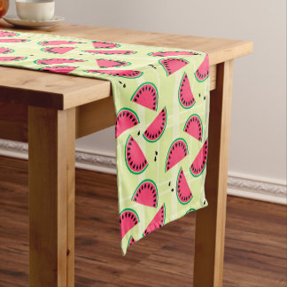 Watermelon, Fruit, Summer, Picnic, Melon, Yellow Short Table Runner