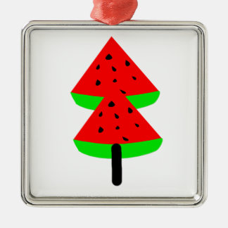 watermelon fruit tree metal ornament