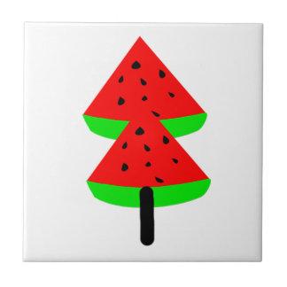 watermelon fruit tree tile
