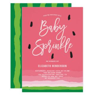 Watermelon Gradient Modern Baby Sprinkle Card