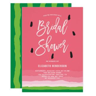 Watermelon Gradient Modern Bridal Shower Card