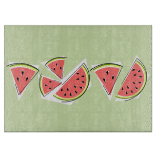 Watermelon Green Line cutting board