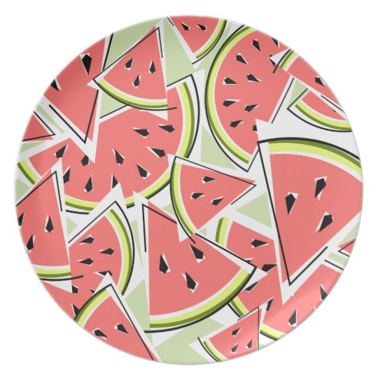 Watermelon Green melamine plate