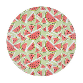 Watermelon Green Multi cutting board round