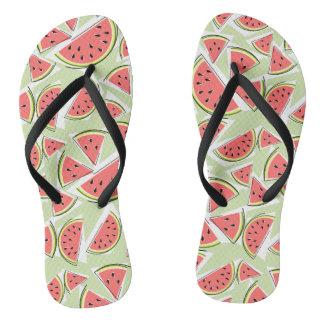 Watermelon Green Multi flip flops