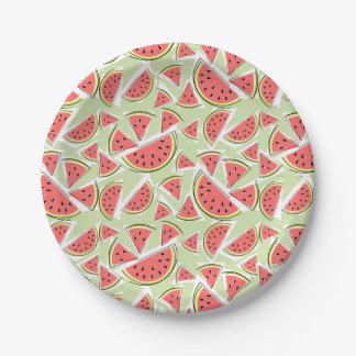 Watermelon Green Multi paper plates