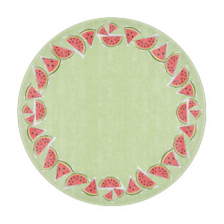 Watermelon Green Pieces border round Boards