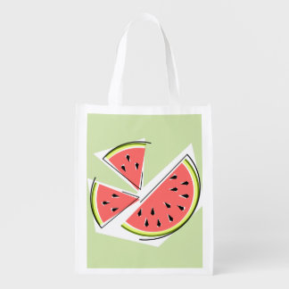 Watermelon Green Pieces reusable bag