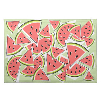 Watermelon Green placemat cloth
