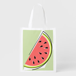 Watermelon Green Slice reusable bag