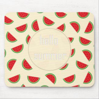 watermelon hello summer mousepad
