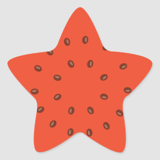 watermelon inside star sticker
