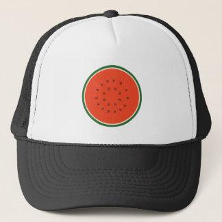 watermelon inside trucker hat