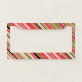 Watermelon-Inspired Stripes License Plate Frame