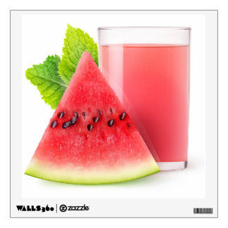 Watermelon juice wall sticker