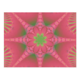 Watermelon Kaleidoscope Bloom Postcard